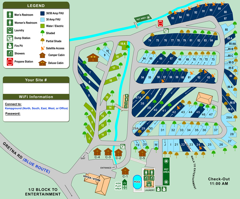 Musicland Campground Branson Missouri RV Park And Good Sam Campground - Branson tourist map
