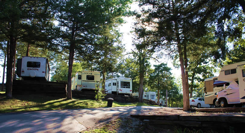 Full hookup campgrounds in branson mo